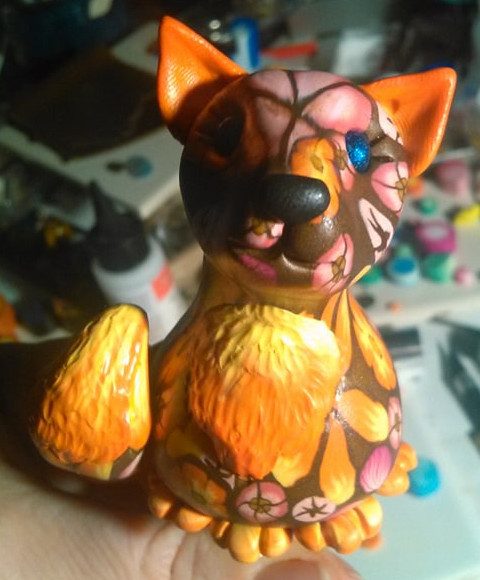Brown Floral Fox