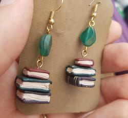 Stacked Books Earrings