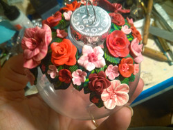 Red Flowers Bauble