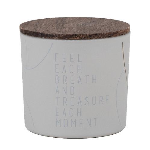 """Duftwelten Duftkerze """"Feel each breath & treasure each moment"""" klein"""