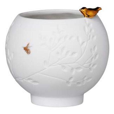 Porzellangeschichten Schale/Teelicht Vogel