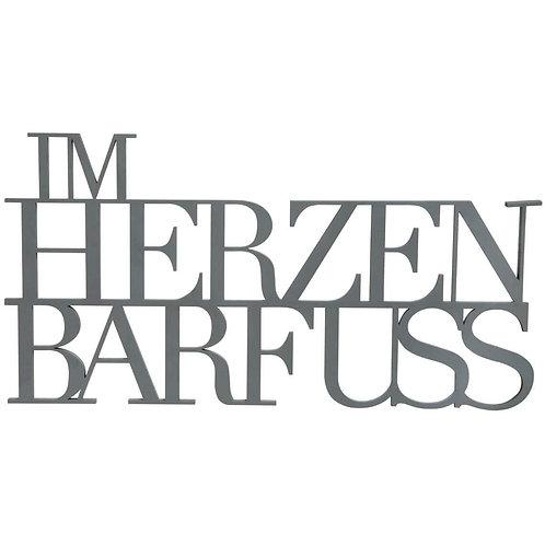 "Wandpoesie ""Im Herzen Barfuß"""