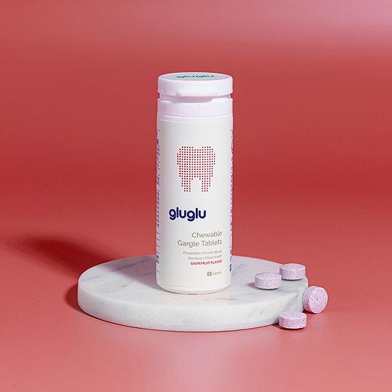 GLUGLU Chewable Tablets (Grapefruit flavor)