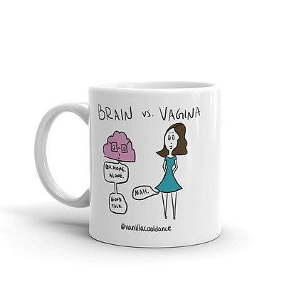 Brain vs. Vagina Mug