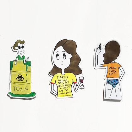 Sticker set - Pack of 3