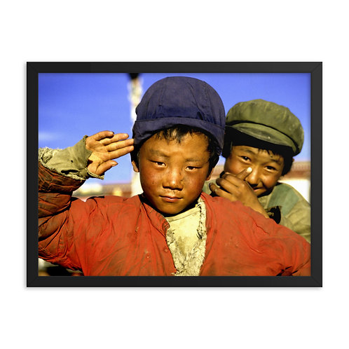 Tibetan boys in Lhasa, taken on the day before the 1 October 1987 riot