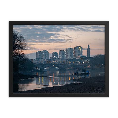 Brentford and Kew Bridge at dusk