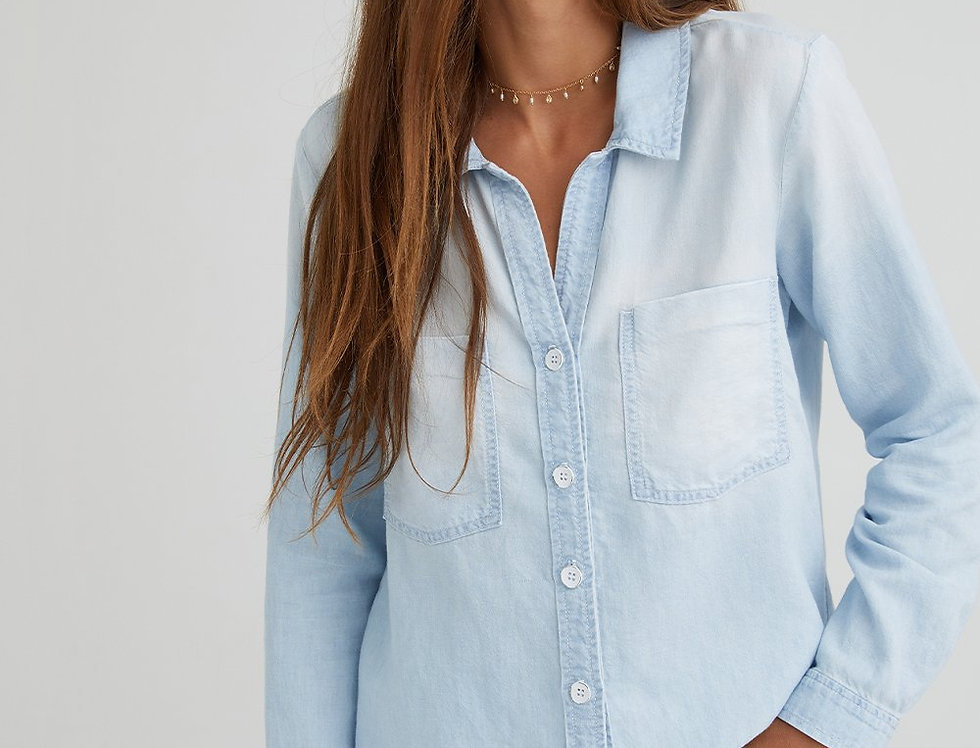 Bella Dahl Roll Sleeve Two Pocket Button Down