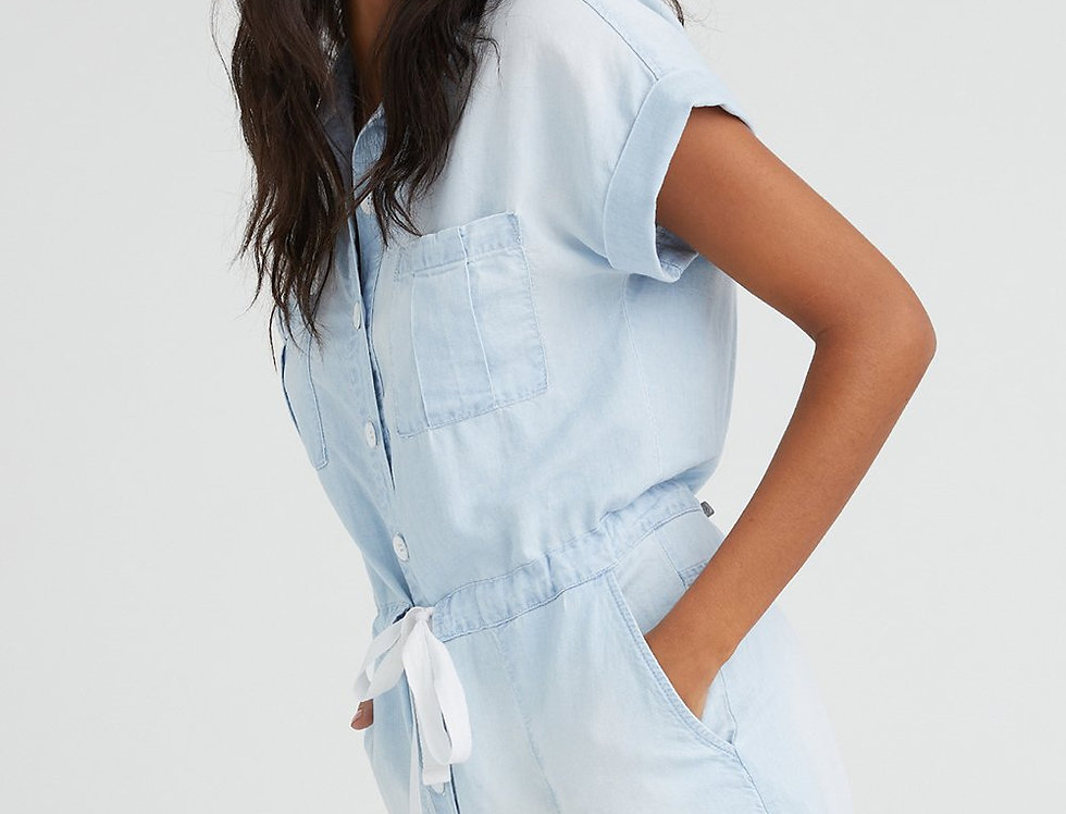 Bella Dahl Cap Sleeve Button Front Romper