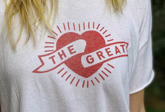 The Great Crop Tee w/ Heart Graphic