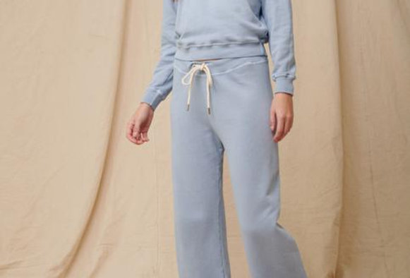 The Great Wide Leg Cropped Sweatpant