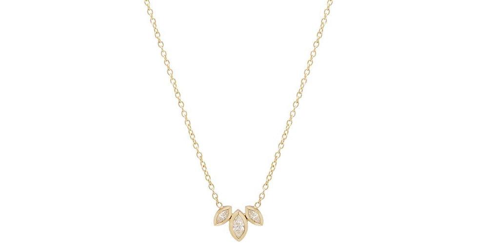 Zoë Chicco 14K Marquis Diamond Fan Necklace