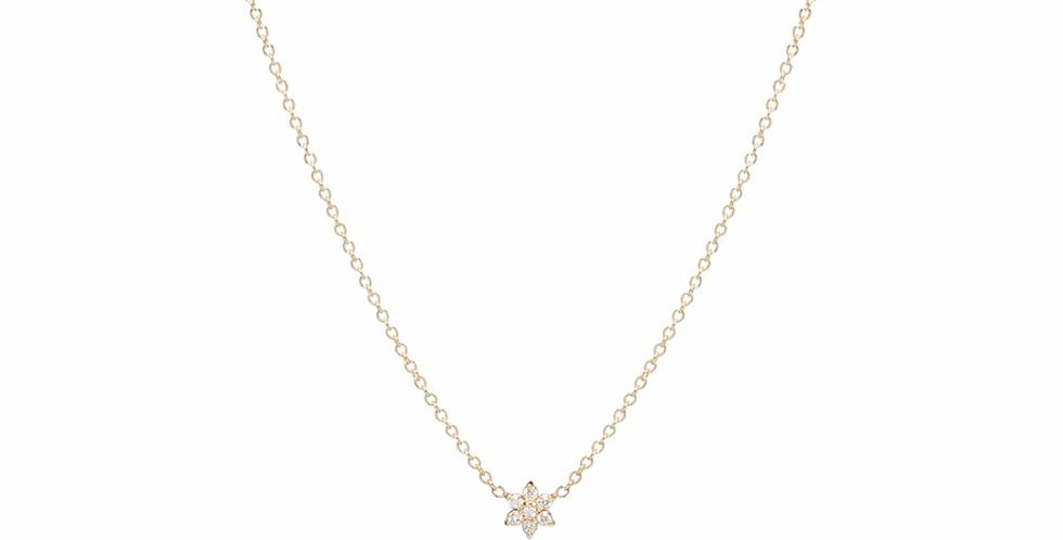 Zoë Chicco 14K Prong Set Diamond Flower Necklace