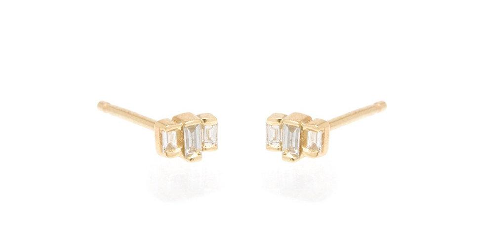 Zoë Chicco 14K Baguette Diamond Studs