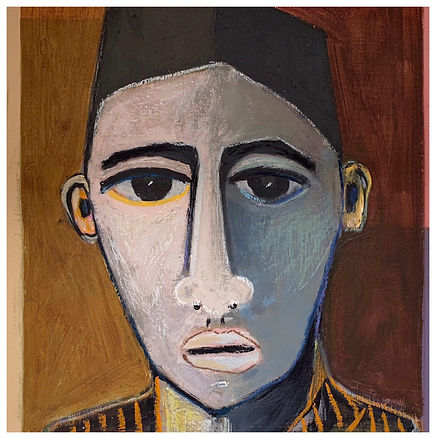 Omar Acrylic and Oil Pastel on Board 29c