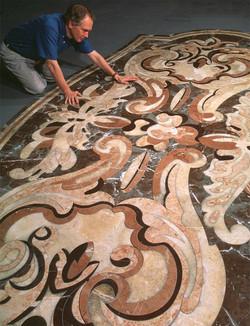 Antique carpet ,made in stone