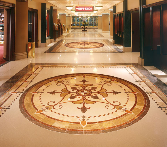 large medallion on floor