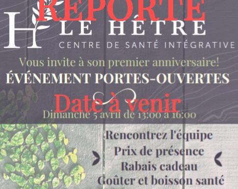 Journée porte ouverte - REPORTÉE