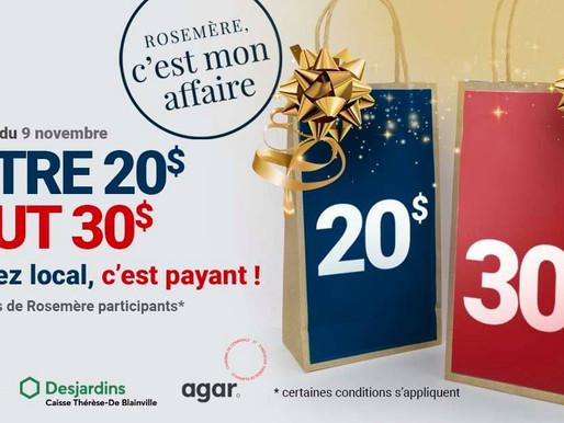 Campagne d'achat local ''Rosemère c'est mon affaire''!