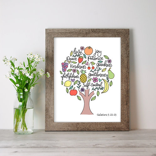 Fruits of the Spirit - Unframed 8 x 10 inch Print.