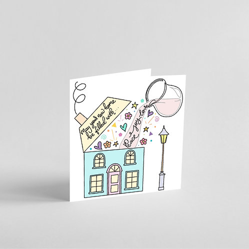 Peace Joy Love Handmade New Home Card