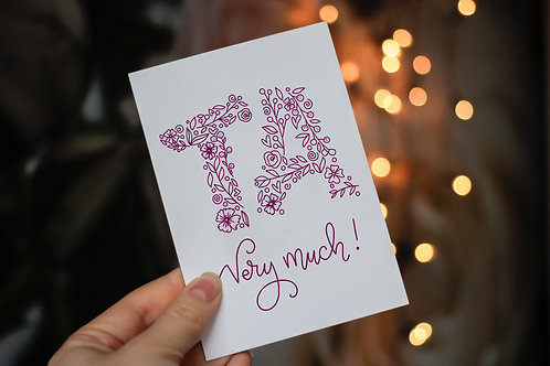 Thank You Notelets & Envelopes (Pack of 8)