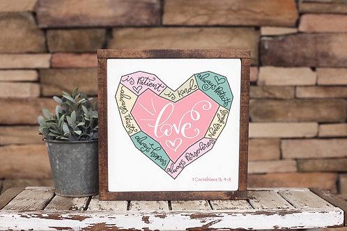 Love Is... - 8 x 8 inch Unframed Print