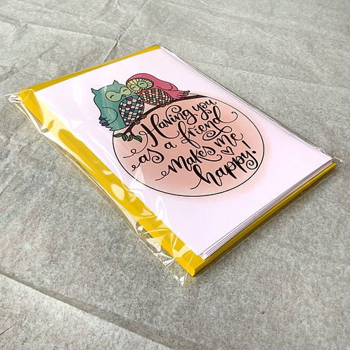 Friendship Notecards and Envelopes (pack of 8!)