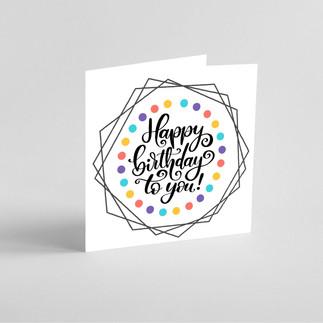 Geometric polka dot greeting card mock u