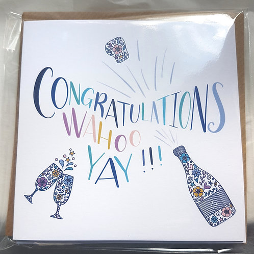 Pack of 4 Celebration Cards ( 4 different designs) - 1 card FREE!