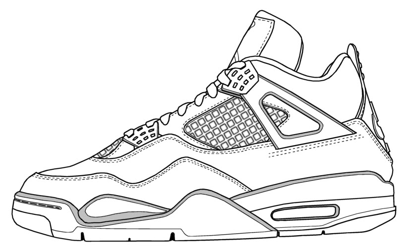 competitive price a426c 10527 ... 1 drawing  jordan 4 drawing ...