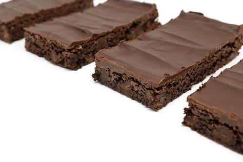 Fudgey Triple Chocolate Brownies