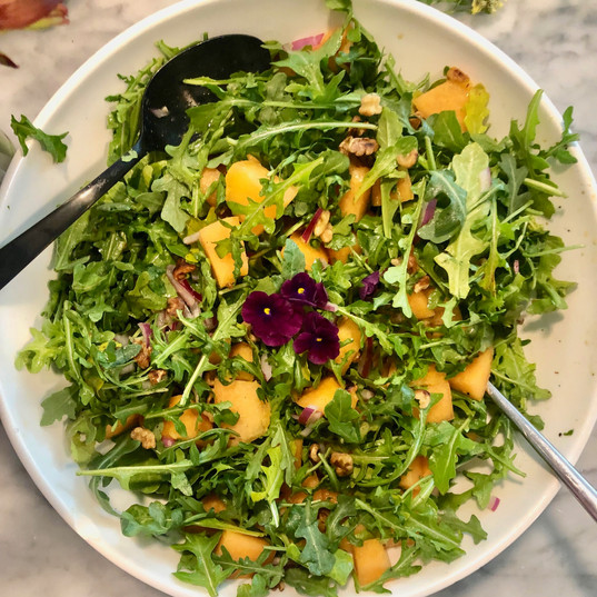 Arugula Cantalope Salad