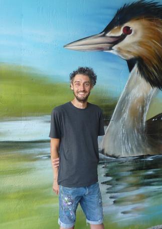 Muurschilderingen hebben van mij een groot vogelliefhebber gemaakt