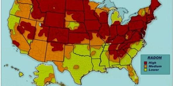 EPA Radon Zone Map, USA