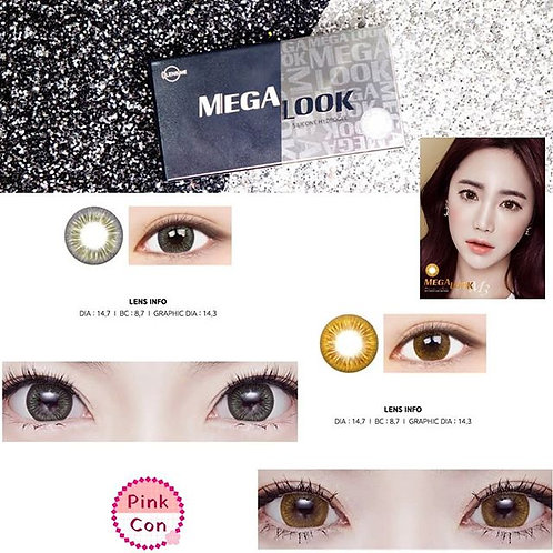 Mega Look contacto lenses (Monthy x 2PCS)DIA:14.7mm ;Contact us before ordering