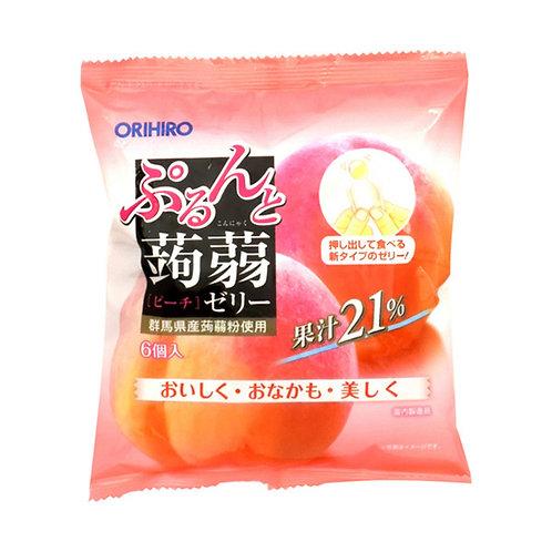 ORIHIRO konjac jelly pouch peach 120G