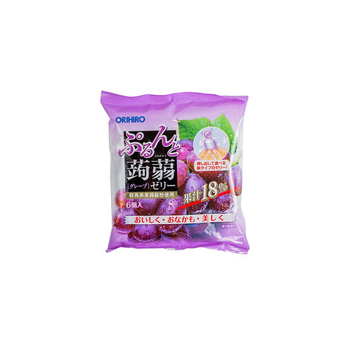 ORIHIRO konjac jelly pouch grape 120G