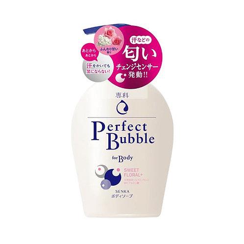 New Senka Perfect Bubble For Body Sweet Florul 500ml
