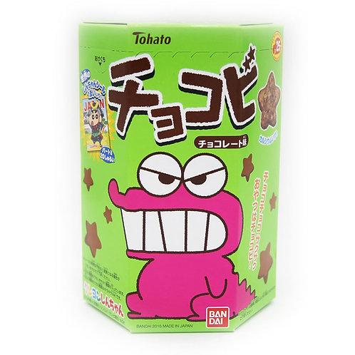 Chocobi Chocolate Dagashi Japanese Snack Crayon Shinchan Tohato