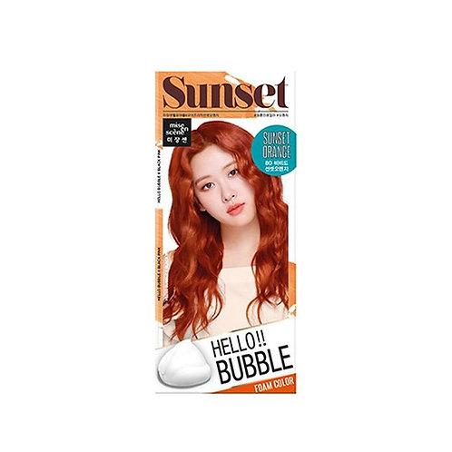 Mise En Scene Hello Bubble Hair Foam Color - Sunset Orange 8O