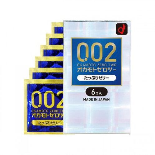 OKAMOTO Condoms 002 Plenty Of Jelly 6pcs
