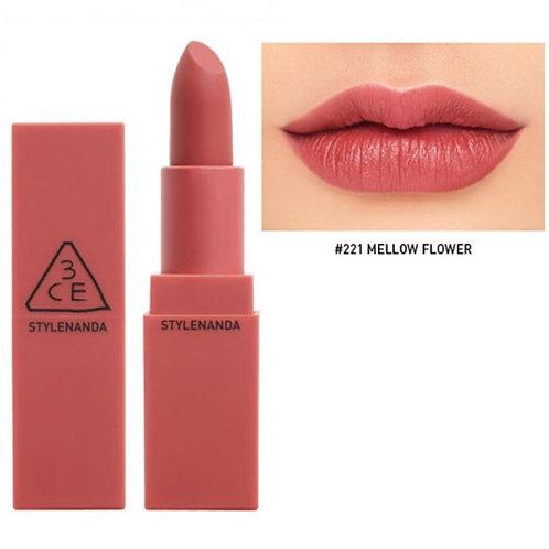 3CE Mood Recipe Matte Lip Color 221 Mellow Flower