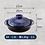 Thumbnail: Ginpo Kikka Donabe Japanese Clay Pot 25CM SIZE 8 Blue