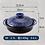 Thumbnail: Ginpo Kikka Donabe Japanese Clay Pot 28CM SIZE 9 Blue