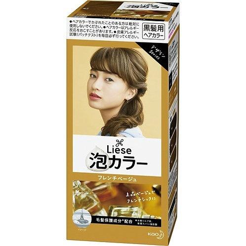Kao Liese Prettia Hair Color Bubble Foaming Kit 108ml French Beige
