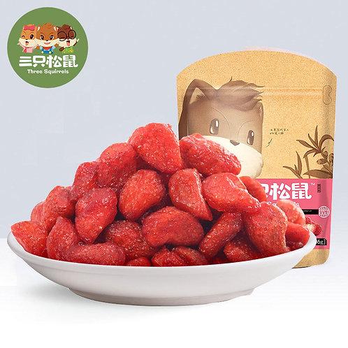 THREE SQUIRREL Small Dried Strawberry 106G