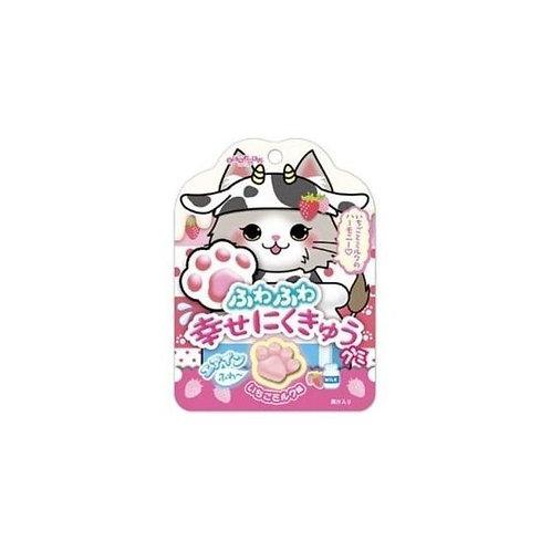 Senjakuame Fluffy Happy Pad Gummy Strawberry Milk Taste 30g