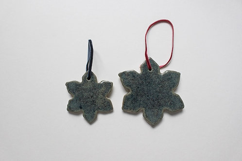 Speckled Snowflake Decoration