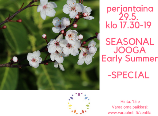 Seasonal Jooga Early Summer – OnLine Special